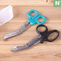 Wholesale Elbow stainless steel gauze scissors nursing bandage dressing clothes handmade paper cutting knife