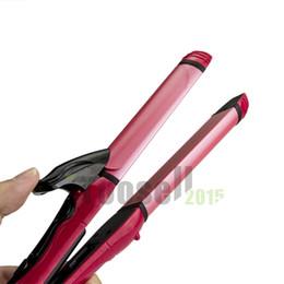 Lisseur d'onde en Ligne-2 en 1 Profession Salon Portable Curler Straightener Cheveux Chaudes Iron Curling Céramique Wave Band Hair Beauty Tool 1325-1324