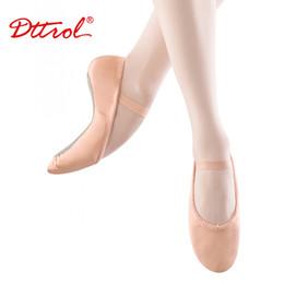 Gros-professionnels Chaussures de ballet Pantoufles Femmes Filles Toddler cuir véritable Zapatillas Ballet complet de Split Sole Ballet Chaussures de danse 6182 à partir de semelles de pantoufles de gros fabricateur