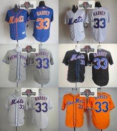 Wholesale 2015 Newest Men s New York Mets Matt Harvey Orange White Black Grey Blue White Stripe Baseball Jerseys w Postseason