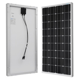 Wholesale 100w solar panel for V system monocrystalline photovoltaic panel solar module