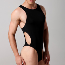 Wholesale Sexy Teddies Mens Bodysuit Body stocking Sex Man Jumpsuit Wresting Undershirts Clothes Gay Clothing Exotic Novelty comfortable underwear