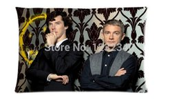Wholesale Cool Pillowcase Sherlock Holmes BBC TV Series Style Pillow Case Twin Sides x30 Inch
