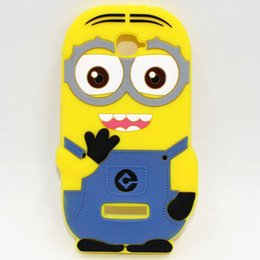 Wholesale For Alcatel One Touch POP C7 Case New D Cartoon Despicable Me Minions Batman Hero Soft Rubber Silicon Cover Case
