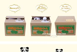 Wholesale-36pcs lot Freeshipping Automated cat steal coin bank,cat saving box,storage jar for kids,money saver,holiday toys gifts