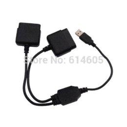 Controladores de xbox para la venta en venta-Controlador del convertidor del adaptador para Sony PS1 PS2 a PC USB 2.0 mando con cable adaptador de cinta cajas convertidoras para la venta
