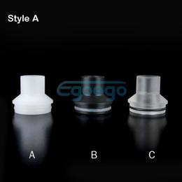 Black Clear Tobh Atty Drip Tip chuff top Cap POM Cap plastic drip tip 510 drip tip for 22mmTobh Atty RDA RBA Atty plume veil Atomizers