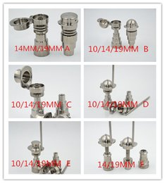 Wholesale BEST SALER GR2 TITANIUM NAILS mm mm mm in1 baseball hat carb capo AND in gentalman hat carb cap with male and female joint