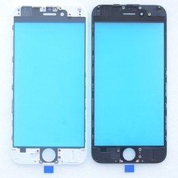 Wholesale Best quality front Glass with Frame Assembly for iPhone touch panel with Bezel Housing DHL