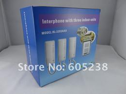 Wholesale RL aaa Door Phone Inter phone Intercom with triple indoor units way intercom