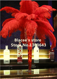 """Free shipping,Wholesale prices,18-20"""" inches,100pcs lot,red ostrich feathers for Wedding Birthday Christmas Decorations"""