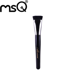 Wholesale MSQ New Arrival Single Beauty Flat Contour Brush Top Grade Synthetic Hair Black Wood Handle Thick Aluminium Ferrule Series