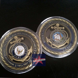Wholesale U S Navy coin Core Values Challenge Coin American Army USA Army Navy coin Gold plated Souvenir Commemorative Coin OZ