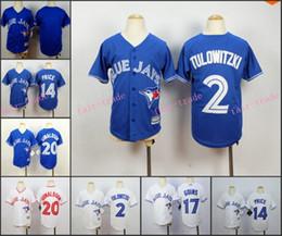 Wholesale Youth Toronto Blue Jays Jersey Kid Troy Tulowitzki DAVID PRICE Josh Donaldson White Blue Home Away