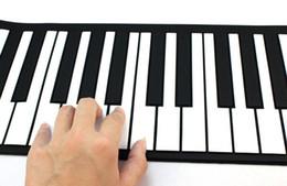NUEVO Roll-Up 61 MIDI tecla suave sintetizador electrónico del teclado de piano Mic Jecksion desde enrollar 61 teclas proveedores