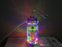 Wholesale DIM CM HIGH CM Acrylic Smoking pipes smoking accessories lamp glass filter pot and water pipes rubber tube with colorful led lighter