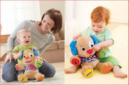 Wholesale Fisher Dog Toys Baby Musical Plush Toys Dog Singing Songs Langh leam Love To Play Learning in English