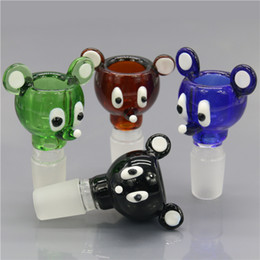 Wholesale Smoking Dogo News Mouse Shape Bowls Glass Mickey Style Animal Smoking Bowls mm mm Male Joint Bowls for Glass Bongs