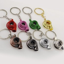 Wholesale Lowest Price Most Popular Turbo KeyRing Keychains Personality Alloy Air Blower Key Ring Chain Turbine Turbocharger Sleeve Bearing