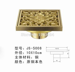 Wholesale 2015 New Real free Copper Odor proof Floor Drain The Bathroom Shower Mail Designer According To Chinese Peony of Graphic Design