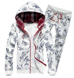 Free shipping 014 new men tracksuit casual autumn sport suits printing jacket baseball active clothing set large size M-5XL
