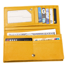 Wholesale Womens Long Wallet Purse Rfid Protection Wallet Clutch Bifold Red and Yellow with New Box Best Gift