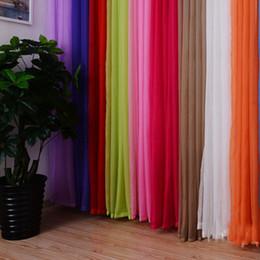 Wholesale Brand new Rideaux de fenêtres vente chaude couleur unie pour la vie Chambre à coucher Livraison Rideaux Window Home Decor gratuit