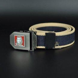 2016 Hot men automatic buckle thicken canvas belt Che Guevara military belt Army tactical belt men strap cintos designer belt