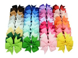 Baby Girls Bow Hiar Clips 3 Inch Grosgrain Ribbon Bows With Alligator Clips Childrens Hair Accessories Kids Boutique Bow Barrette