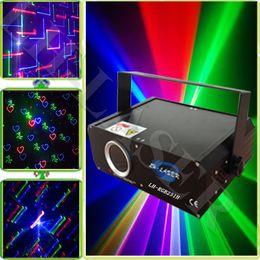 Tarjetas de navidad baratos en Línea-Láser barato de 1000mw RGB con la tarjeta del SD y la animación de los fuegos artificiales la luz del haz de laser / la iluminación del día de fiesta / el laser de dj / la iluminación de la Navidad