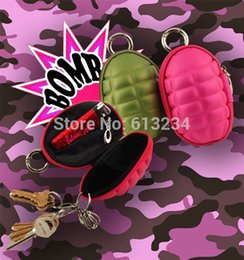 Wholesale Pieces Hand Grenade Shaped Coin Purse Grenade Coin Pouch Novelty Gadgets