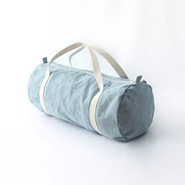 Wholesale AA vintage American Apparel blue city bag canvas travel casual denim duffle bag yy592