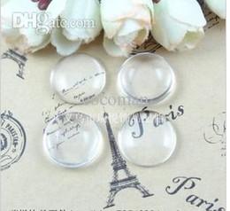 Wholesale Al por mayor A1903 Envío libre mm Buena Calidad Cúpulas Ronda ajustes claro transparente Cabochons cristal Cameo cubierta de vidrio