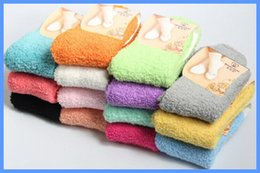 Wholesale-Autumn Winter winter warkm thick socks coral fleece colorful stockings wholesale fuzzy socks 12 Pairs lot