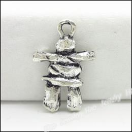 Antique Plated Silver Zinc Alloy INUKSHUK charm Pendant Fit Bracelet Necklace DIY Jewelry 90pcs