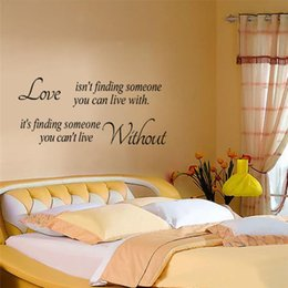 Wholesale ebay hot live life with love wall sticker bedroom decoration diy adesivos de paredes home decal poster print mural art