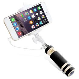 Wholesale Mini Pen Size Cable Wired Selfie Monopod PROMOTIONAL SELFIE Portable Extendable Folding Handheld Cable Short Selfie Stick