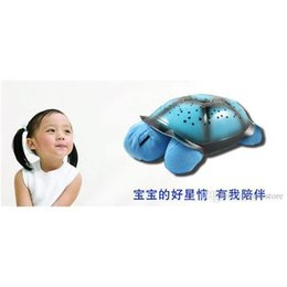 Wholesale 2015 Newest Turtle Night Light Lamp LED Musical Turtle Toys Charming LED Stars Constellation LED Projector Toy Turtle Kids Best Gift on Sale