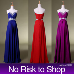 2019 cheap Long Red Bridesmaid Dresses Real Image Beads Sweetheart A line Royal Blue boho Bridal Party Gowns for Maid of Honor Cheap