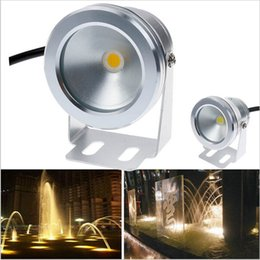 Super bright 1000LM 10W COB LED Underwater Light 12V DC Cool   Warm White IP68 Waterproof Foutain Pool Lamp Lighting fixture