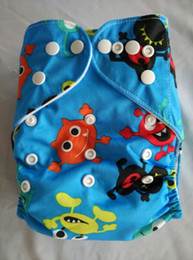 Wholesale 2015 New Printed Diapers Print Baby Nappies Prints Modern Kid Cloth Diapers With Insert color you can choosen