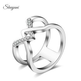 Wholesale SHUYANI Jewelry Rhinestone Silver Ring Fine Fashion Weaving Silver Jewelry Ring Women Men Gift Finger Rings