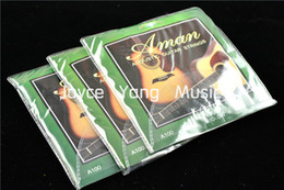 Wholesale 3 Sets of Aman A100 Acoustic Guitar Strings st th Steel Strings Light Gauge Wholesales