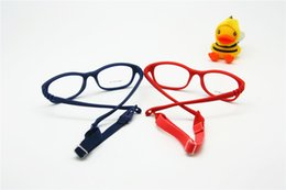 Wholesale Children Optical Glasses Frame with Strap Size One piece Kids Glasses with Cord No Screw Flexible Girls Boys Glasses