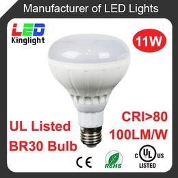 Wholesale UL listed E26 Base Dimmable W BR30 R30 LED Bulb LED Light spotlight Bulb AC110V warm white suit for America market CRI gt PF gt