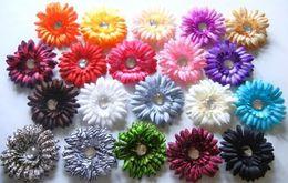 Wholesale 1604 wholsale quot Gerber Daisy Flowers flower hair accessories hair flowers