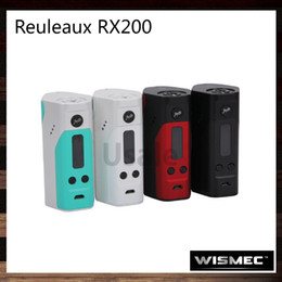 Wholesale Wismec Reuleaux RX200 TC Mod Powered By Joyetech Chip RX200W Best Match Amor Plus TFV4 Mini Indestructible Tank Original