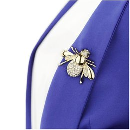 Fashion Rhinestone Crystal Animal Insect Brooch Jewelry Lovely Alloy Bee Brooches Pins Accessories For Gift Wholesale 10Pcs