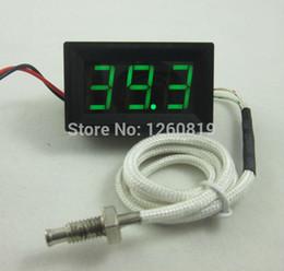 Измеритель температуры панели для продажи-Зеленый светодиод 0-999C Термопара термометр температуры метр панели дисплея + зонд