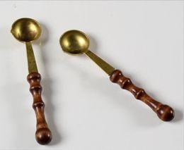 Wholesale-2pcs Special wax seal wax spoon ,scoop wax seal wax seal vintage wooden handle spoon 4Z1469